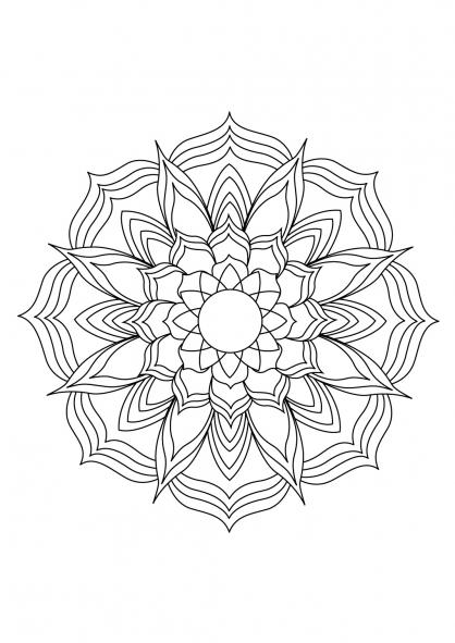 Coloriage Mandala 24