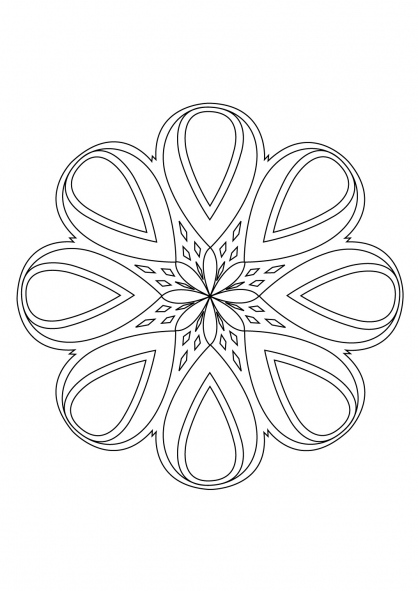 Coloriage Mandala 25