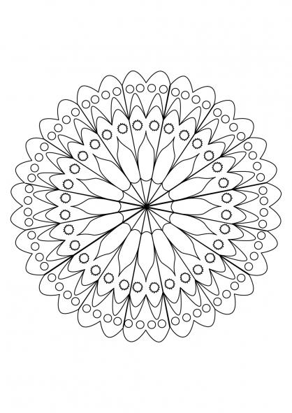 Coloriage Mandala 26