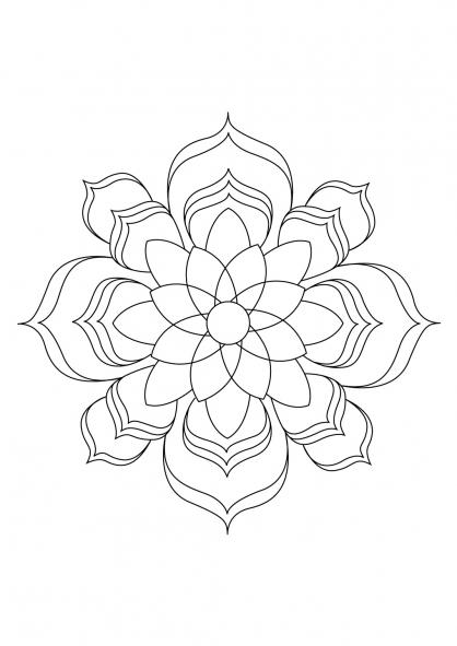 Coloriage Mandala 27