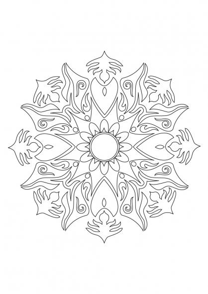 Coloriage Mandala 28