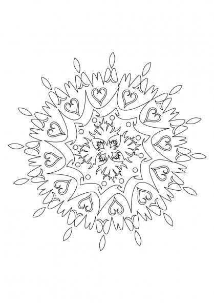Coloriage Mandala 31