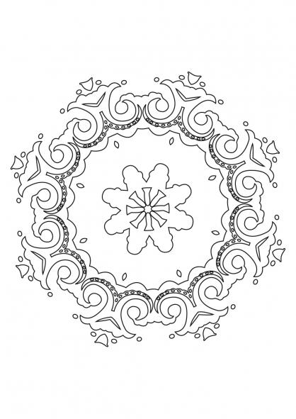 Coloriage Mandala 35