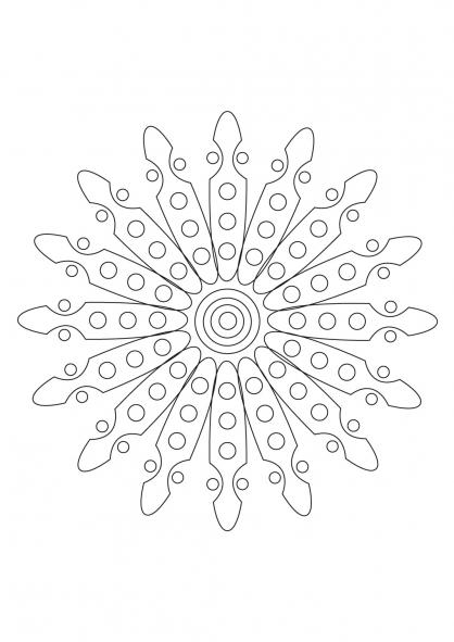 Coloriage Mandala 37