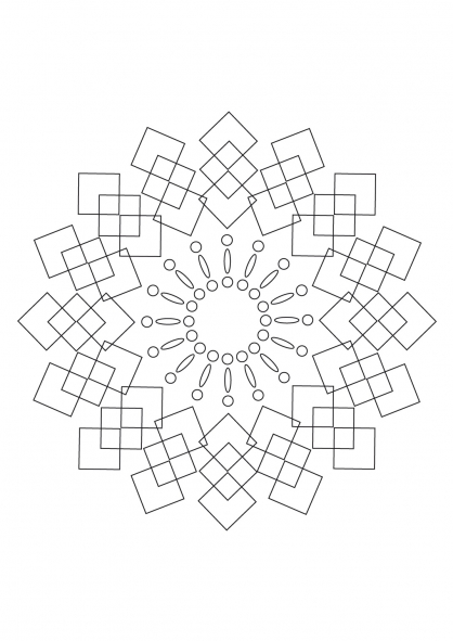 Coloriage Mandala 38