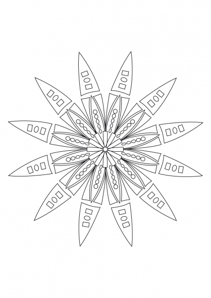 Coloriage Mandala 39