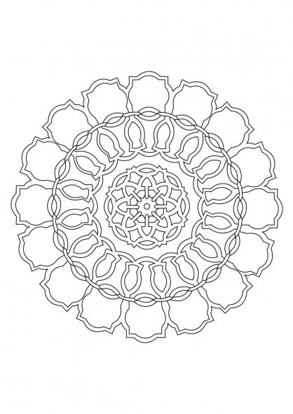 Coloriage Mandala 40