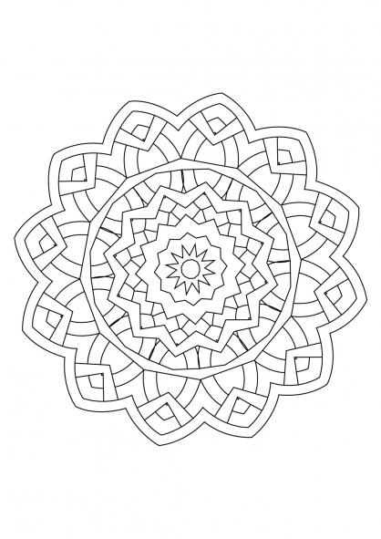 Coloriage Mandala 42