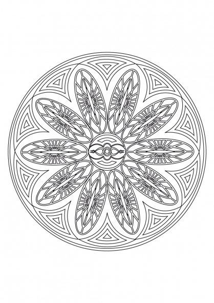 Coloriage Mandala 43