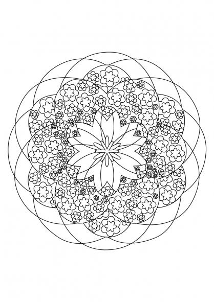 Coloriage Mandala 44