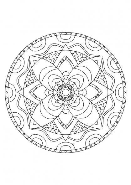 Coloriage Mandala 45