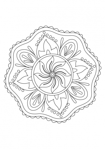 Coloriage Mandala 46