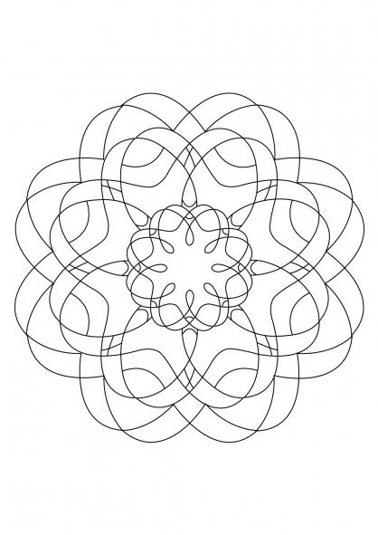 Coloriage Mandala 48