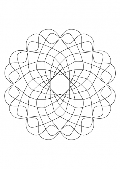 Coloriage Mandala 49