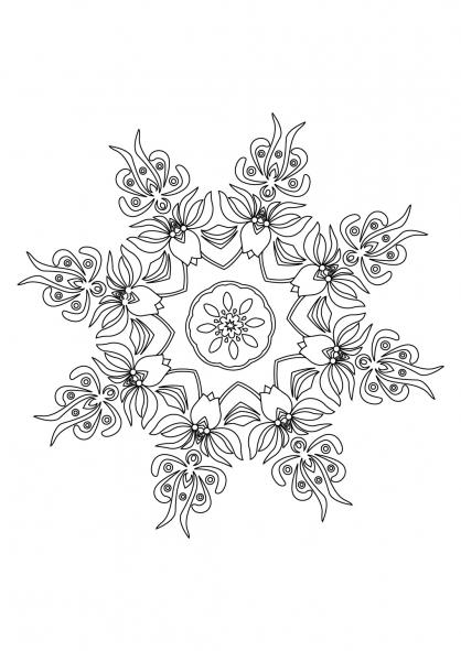 Coloriage Mandala 50