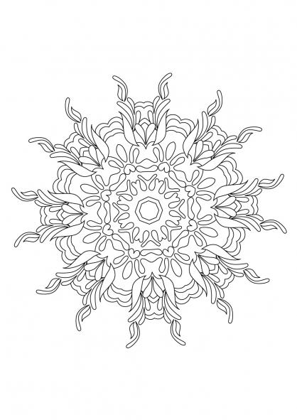 Coloriage Mandala 52