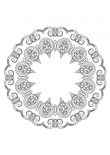 Coloriage Mandala 53