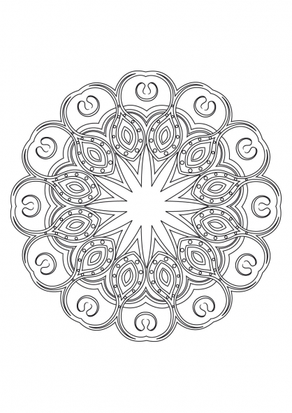 Coloriage Mandala 54