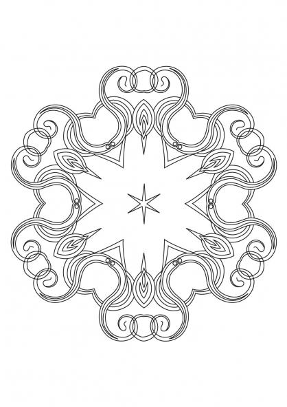 Coloriage Mandala 55