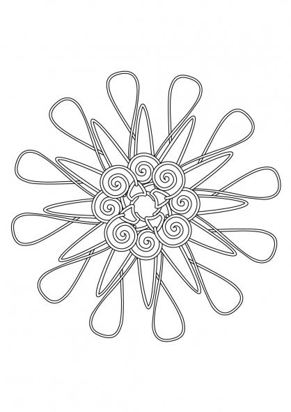 Coloriage Mandala 56