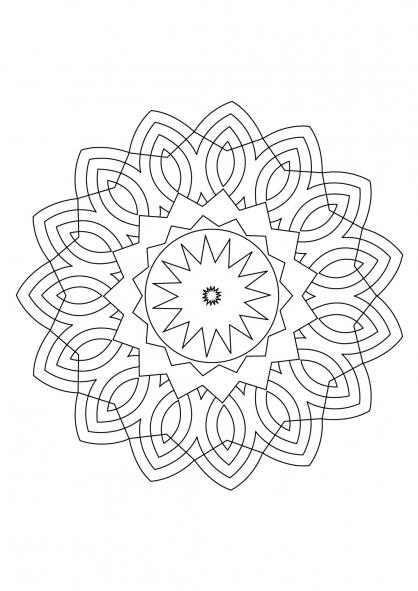 Coloriage Mandala 58