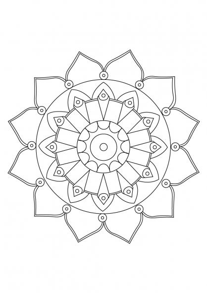 Coloriage Mandala 60