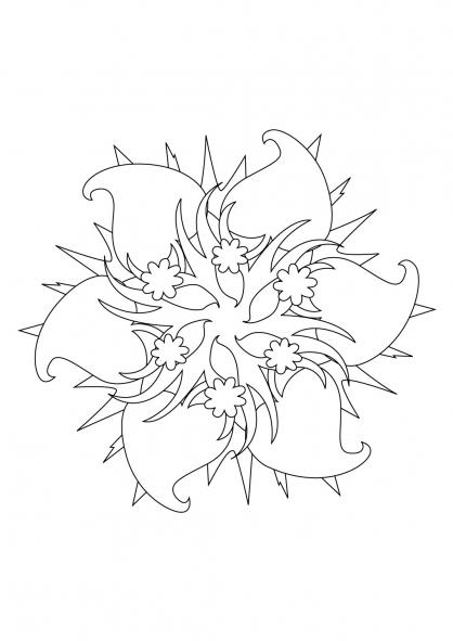Coloriage Mandala 61