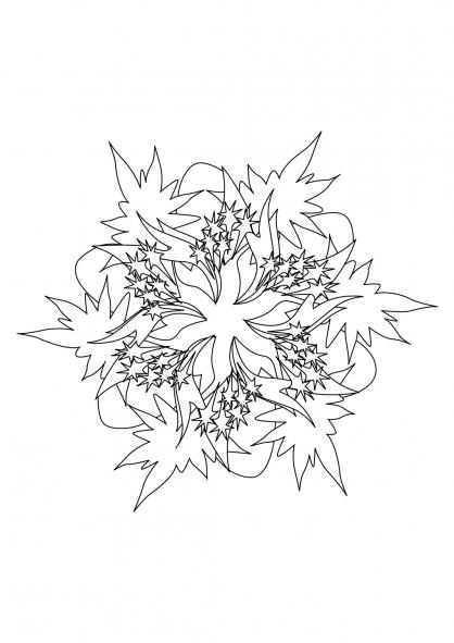 Coloriage Mandala 65
