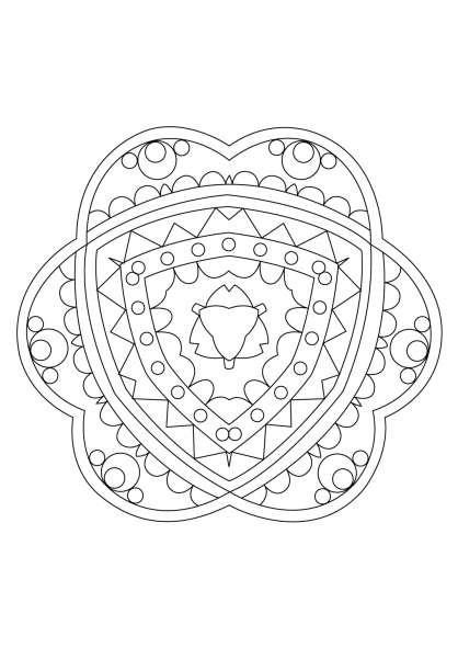 Coloriage Mandala 66