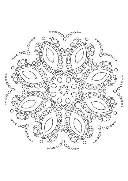 Coloriage Mandala 67