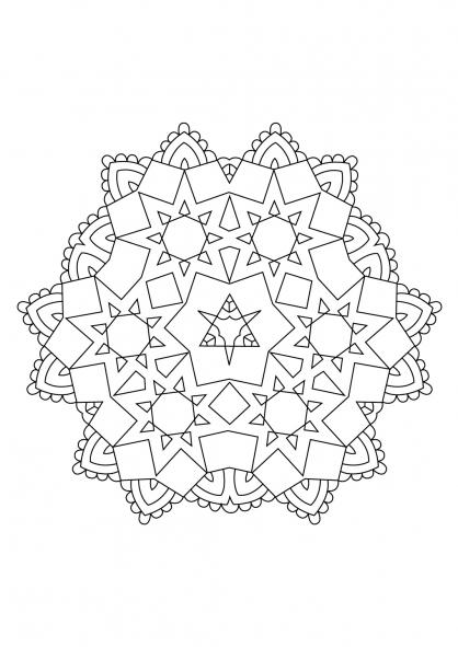 Coloriage Mandala 68