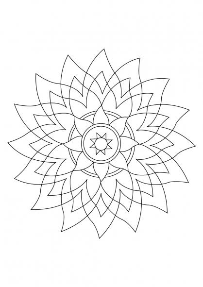 Coloriage Mandala 69