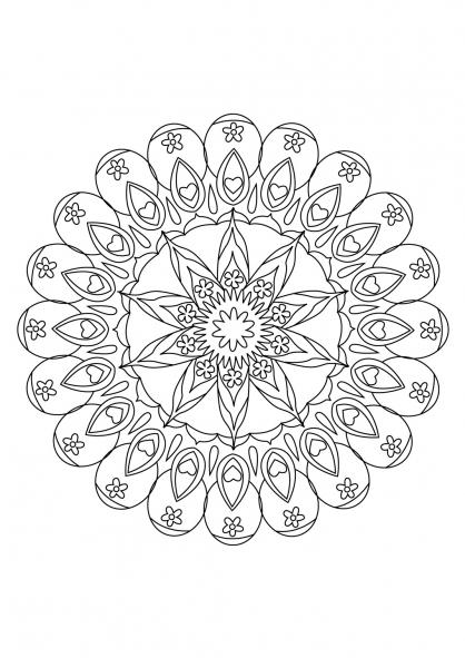 Coloriage Mandala 71