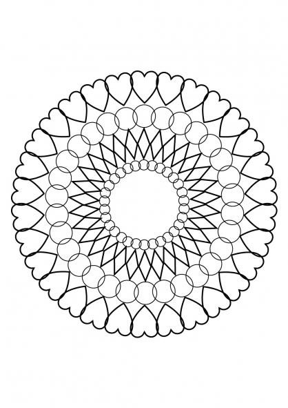 Coloriage mandala 76 coloriage mandalas coloriage chiffres et formes - Gulli fr coloriage ...