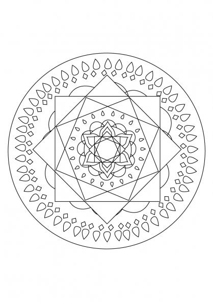 Coloriage Mandala 77