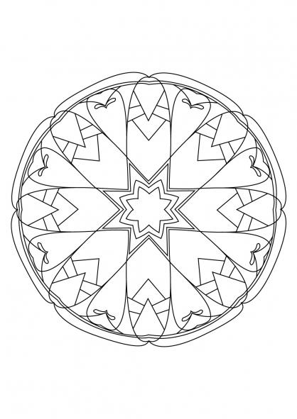 Coloriage Mandala 78