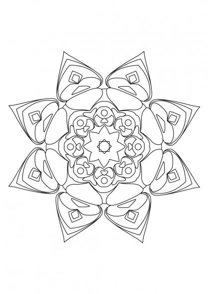 Coloriage Mandala 79