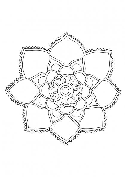 Coloriage Mandala 81