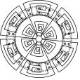 Coloriage Mandala azteque