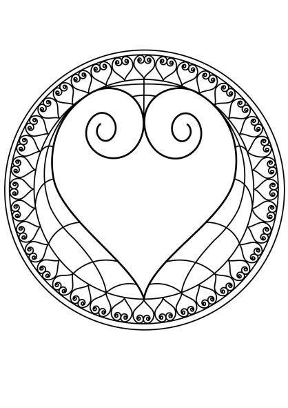 Coloriage mandala coeur 2 coloriage mandalas coloriage chiffres et formes - Coeur coloriage ...