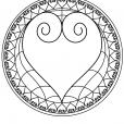 Coloriage Mandala coeur 2