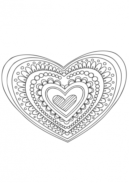 Coloriage mandala coeur coloriage mandalas coloriage chiffres et formes - Coloriage mandale ...