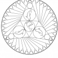Coloriage Mandala dauphin