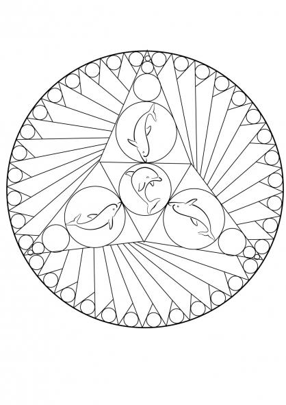 Coloriage mandala dauphin coloriage mandalas coloriage - Dauphin dessin couleur ...