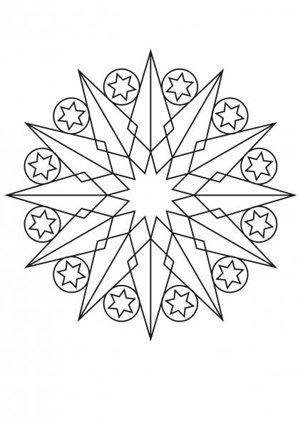 Coloriage mandala etoile 2 coloriage mandalas - Etoile coloriage ...