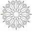 Coloriage Mandala etoile 2