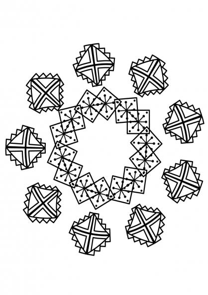 Coloriage Mandala etoile 3