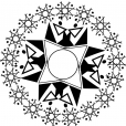 Coloriage Mandala etoile