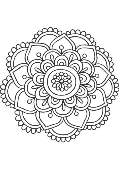 Coloriage mandala fleur 11 coloriage mandalas - Coloriage gulli fr ...