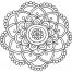 Coloriage Mandala fleur 11